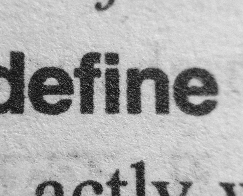 """the word """"defined"""" in a dictionary page"""